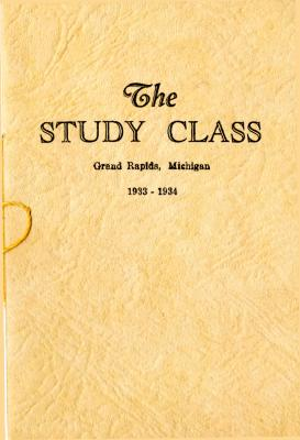 Grand Rapids Study Club Yearbook for 1933-1934