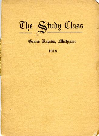 Grand Rapids Study Club Yearbook for 1918