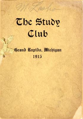 Grand Rapids Study Club Yearbook for 1915