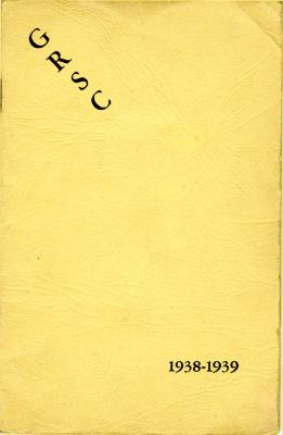 Grand Rapids Study Club Yearbook for 1938-1939