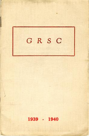 Grand Rapids Study Club Yearbook for 1939-1940