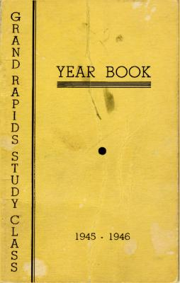 Grand Rapids Study Club Yearbook for 1945-1946