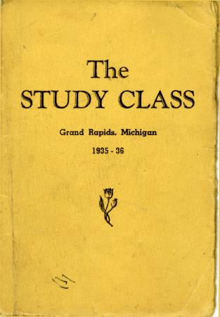 Grand Rapids Study Club Yearbook for 1935-1936