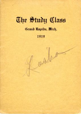 Grand Rapids Study Club Yearbook for 1919