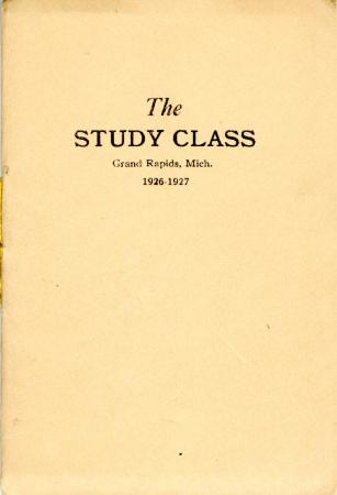 Grand Rapids Study Club Yearbook for 1926-1927