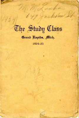 Grand Rapids Study Club Yearbook for 1924-1925