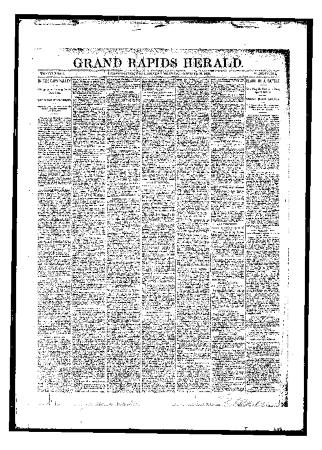 Issue of Grand Rapids Herald for Monday, October 30, 1893
