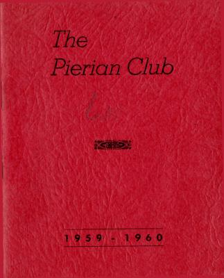 The Pierian Club Yearbook for 1959-1960
