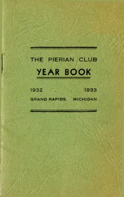 The Pierian Club Yearbook for 1932-1933