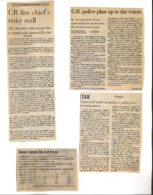 Safety 95 excerpts from Mayor Logie scrapbooks