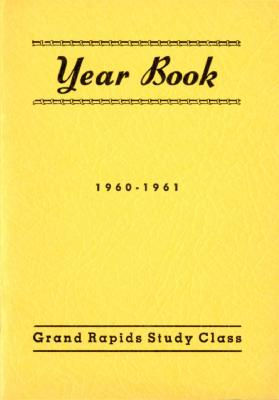 Grand Rapids Study Club Yearbook for 1960-1961
