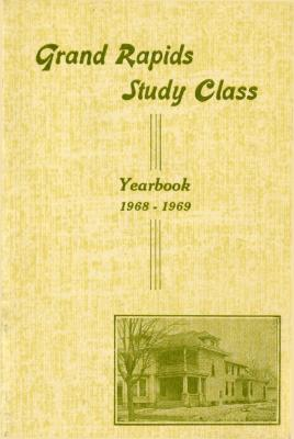 Grand Rapids Study Club Yearbook for 1968-1969