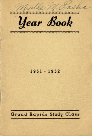 Grand Rapids Study Club Yearbook for 1951-1952