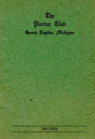 The Pierian Club Yearbook for 1951-1952