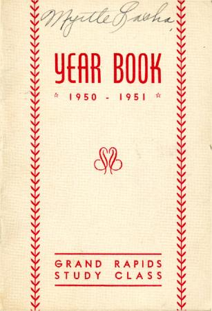 Grand Rapids Study Club Yearbook for 1950-1951