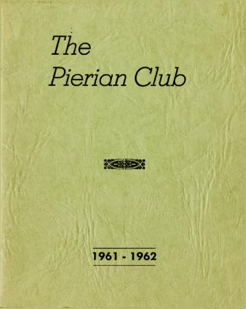 The Pierian Club Yearbook for 1961-1962