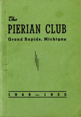 The Pierian Club Yearbook for 1949-1950