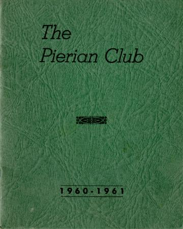 The Pierian Club Yearbook for 1960-1961