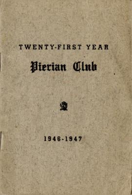 The Pierian Club Yearbook for 1946-1947