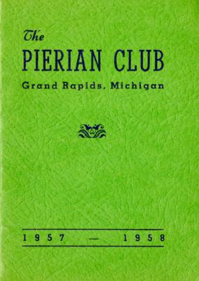 The Pierian Club Yearbook for 1957-1958