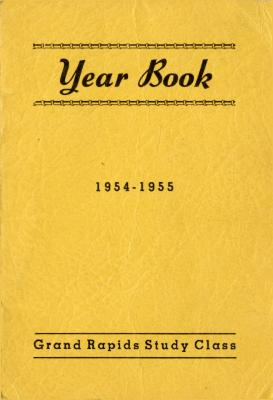 Grand Rapids Study Club Yearbook for 1954-1955