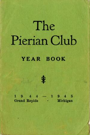 The Pierian Club Yearbook for 1944-1945