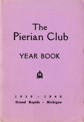 The Pierian Club Yearbook for 1939-1940