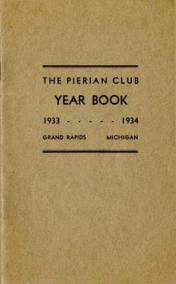 The Pierian Club Yearbook for 1933-1934