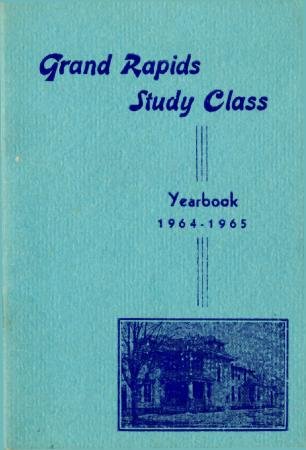 Grand Rapids Study Club Yearbook for 1964-1965