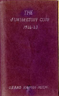 The Pierian Club Yearbook for 1926-1927