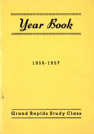 Grand Rapids Study Club Yearbook for 1956-1957