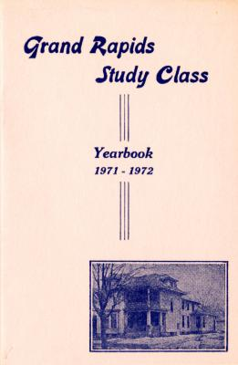 Grand Rapids Study Club Yearbook for 1971-1972