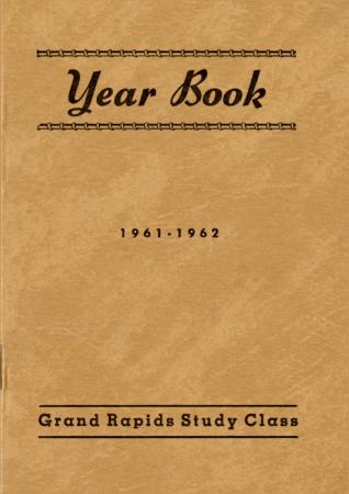 Grand Rapids Study Club Yearbook for 1961-1962