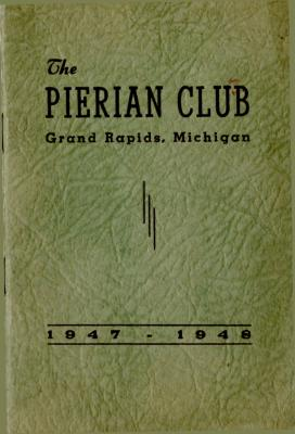 The Pierian Club Yearbook for 1947-1948