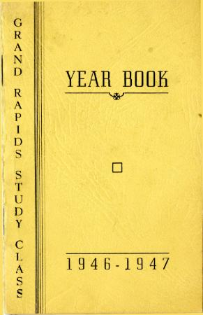 Grand Rapids Study Club Yearbook for 1946-1947