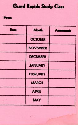 Dues and Assessments Schedule