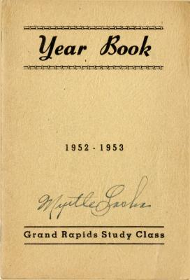 Grand Rapids Study Club Yearbook for 1952-1953