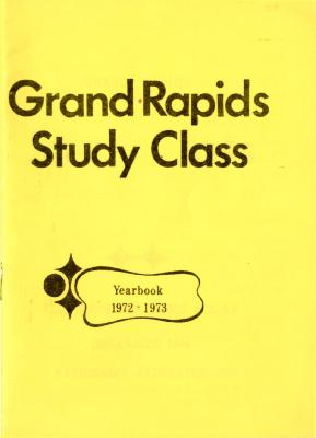 Grand Rapids Study Club Yearbook for 1972-1973