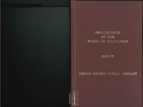 Budget for Grand Rapids Public Schools, 1975-1976