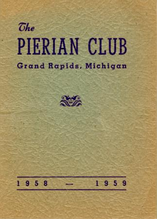 The Pierian Club Yearbook for 1958-1959