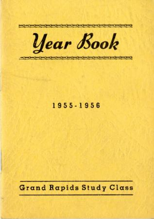 Grand Rapids Study Club Yearbook for 1955-1956