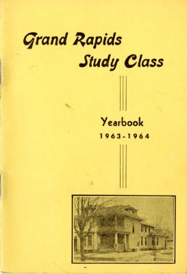 Grand Rapids Study Club Yearbook for 1963-1964