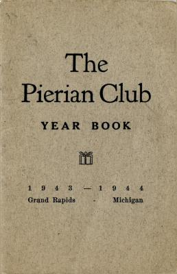 The Pierian Club Yearbook for 1943-1944
