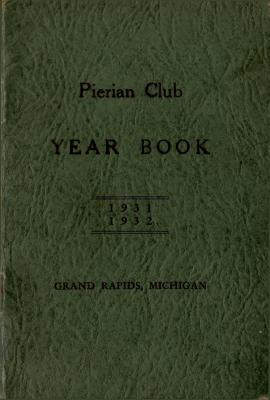 The Pierian Club Yearbook for 1931-1932