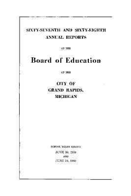 Budget for Grand Rapids Public Schools, 1938-1940