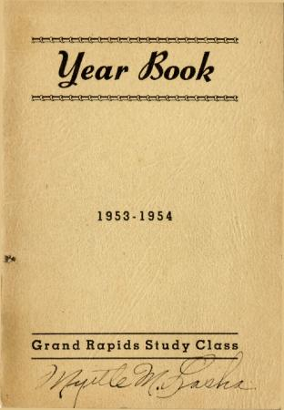 Grand Rapids Study Club Yearbook for 1953-1954