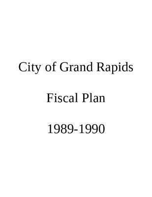 Fiscal Plan excerpts, 1989-1990