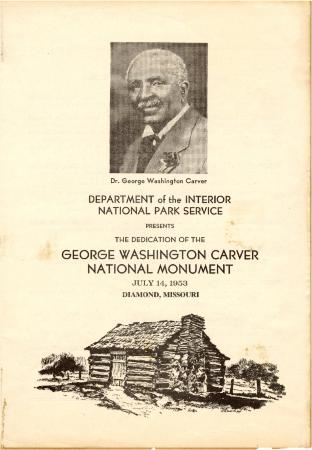 Dedication of the George Washington Carver National Monument
