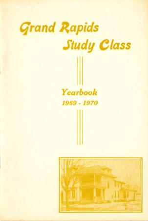 Grand Rapids Study Club Yearbook for 1969-1970