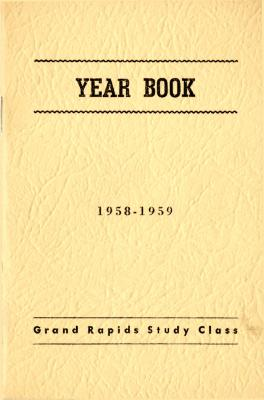 Grand Rapids Study Club Yearbook for 1958-1959